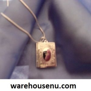 Silver Plated Locket Case 18' inches necklace 1021